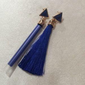 Tassel dangling blue earrings.($5 if you buy 3)